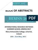 Book of Abstracts IRMSS 2017