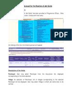 Verification of Job Cards Manual