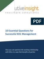 10essentialquestionsforsuccessfulkolmanagement-120404040733-phpapp02