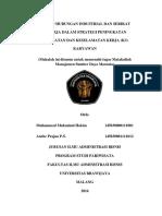 Referensi 01 Kel 10 Konsep Hubungan Industrial Dan Serikat Pekerja Dalam Strategi Peningkatan Kesehatan Dan Keselamatan Kerja k3 Karyawan