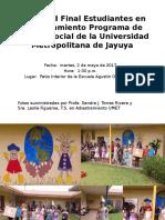 Actividad Final Estudiantes en Adiestramiento Programa de Trabajo Social