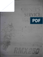 Suzuki RMX 250 Owner's Service Manual