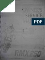 Suzuki RMX 250 Owner's Service Manual