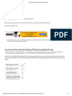 Construction and Working of Reciprocating Pump