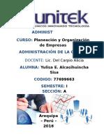 Monografía Administración de Calidad