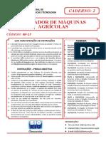Bio Rio 2015 if Rj Operador de Maquinas Agricolas Prova