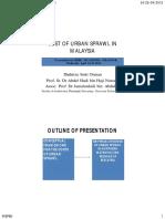 Urban Sprawl in Malaysia