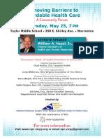 May 25 Healthcare Forum Flyer