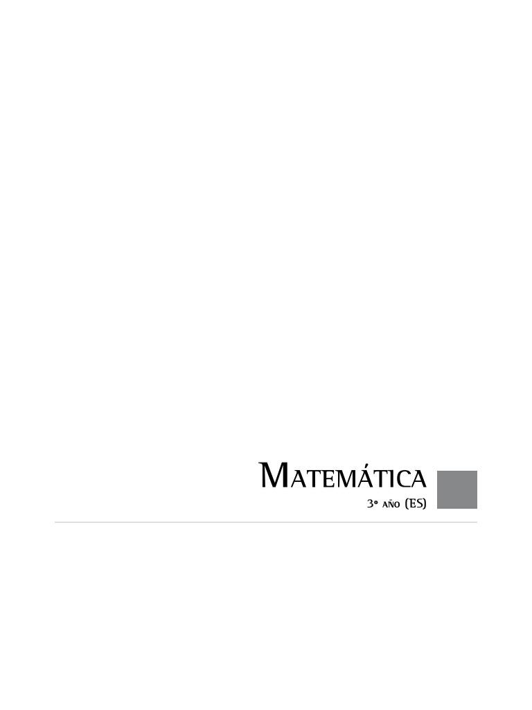 Diseño Curricular Matemática 3º Secundaria