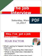 SAT MARCH 11 2017 Job Interview