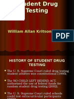 Student Drug Testing #1 - William Allan Kritsonis, Distinguished Alumnus, Central Washington University