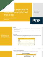 Informe del Mercado Laboral de Publicidad