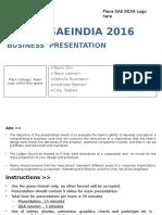 SUPRA 2016_Business Presentation Format