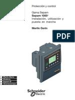 Manual de Instalacion  SEPAM 1000+