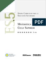Diseño Curricular Matemática 5º Secundaria