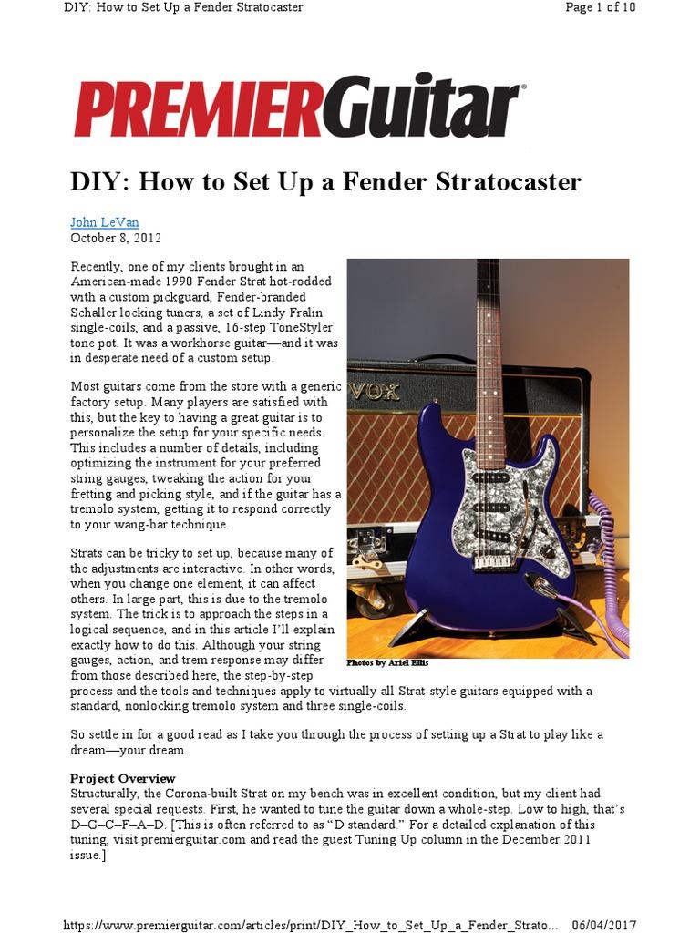 DIY How to Set Up a Fend Strat | Guitars | Guitar Family