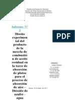 Informe Nº3 Diseño Experimental Del Proceso de Adsorcion Aire-dioxido Sulfurico-Agua