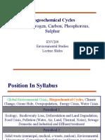 Lecture 3BiogeochemCycles