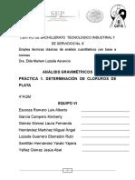 Análisis Gravimétrico-Determinación de Cloruros Con AgNO3