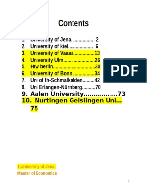 Some Universities List ( Business Administration Related