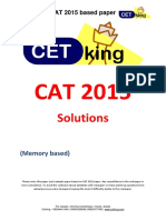 CAT 2015 Question Paper Solutions