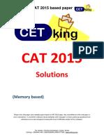 CAT 2015 Question Paper Solutions