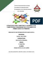 Estrategias Para Fomentar El Desarrollo de Competencias Ciudadanas en- Primer Grado
