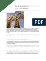 Historia Ancestral Del Riego Agrícola