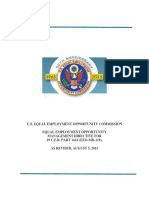 C4C upload of the U.S. EEOC Management Directive 110