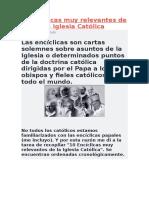 0 Encíclicas Muy Relevantes de La Iglesia Católica