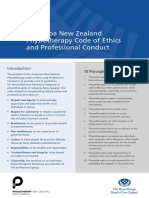 NZ Physiotherapy Code of Ethics Final 0