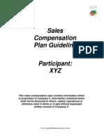 Sales Comp Plan Template