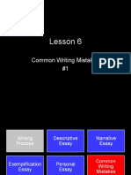 Common Writing Mistakes Lesson #1