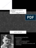 Examples of Famous Leaders