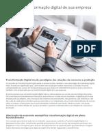 Planeje a Transformação Digital de Sua Empresa