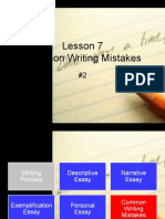 Common Writing Mistakes Lesson #2