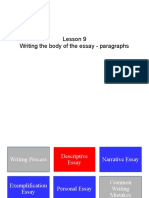 Writing the Body of the Essay - Paragraphs - Use This