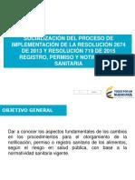 Presentación Alimentos Resolucion 2674 y 719 de 2015