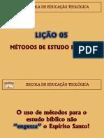 Eetad - Lições 05 e 06