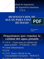 Institutos Desinfeccion Aguas Consumo Humano