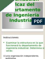 Organización Del Departamento de Ingeniería Industrial