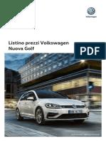 Volkswagen Listino Prezzi Nuova Golf