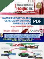 MATRIZ ENERGÉTICA MUNDIAL Y LA GENERACIÓN DISTRIBUIDA CON ENERGÍA SOLAR
