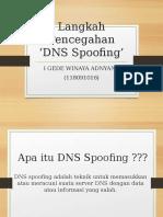 Langkah Pencegahan Teknik Spoofing
