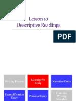 Descriptive Reading