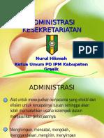 Materi Upgrading PC IPM Ujungpangkah Administrasi Kesekretariatan