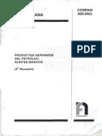 COVENIN 829-2002 Productos derivados del petroleo (aceites basicos).pdf