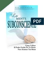 Adenauer Greg - La Mente Subconsciente.doc