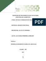 Trabalho Sobre Tratamento Das Águas (1)