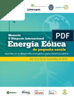 II Simposio Internaciona Energía Eólica